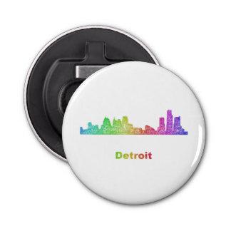 Horizonte de Detroit del arco iris Abrebotellas Redondo