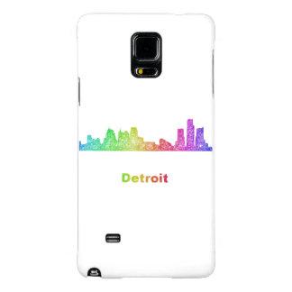 Horizonte de Detroit del arco iris Funda Galaxy Note 4