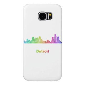 Horizonte de Detroit del arco iris Funda Samsung Galaxy S6