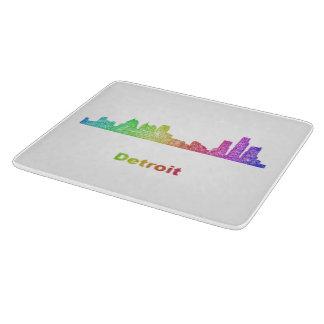 Horizonte de Detroit del arco iris Tabla De Cortar