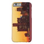 Horizonte de Detroit en puesta del sol colorida Funda De iPhone 6 Barely There