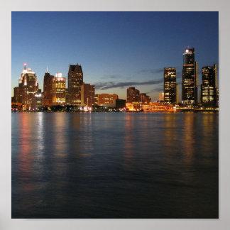 Horizonte de Detroit Poster