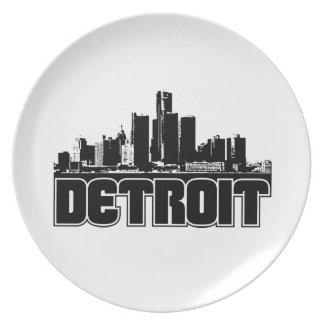 Horizonte de Detroit Platos Para Fiestas