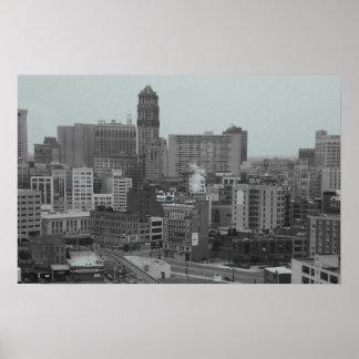 horizonte de Detroit Póster