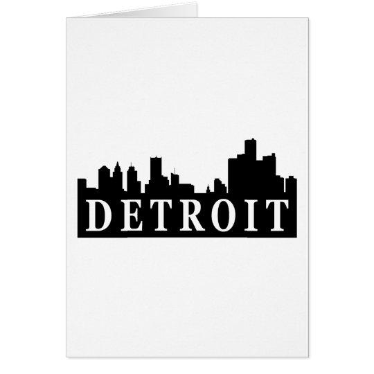 Horizonte de Detroit Tarjeta De Felicitación