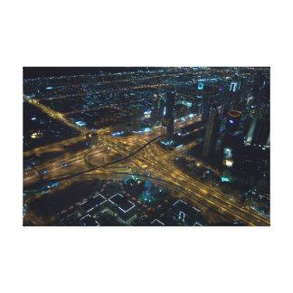 Horizonte de Dubai, United Arab Emirates en la Impresión En Lienzo