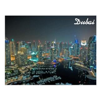 Horizonte de Dubai, United Arab Emirates en la Tarjeta Postal