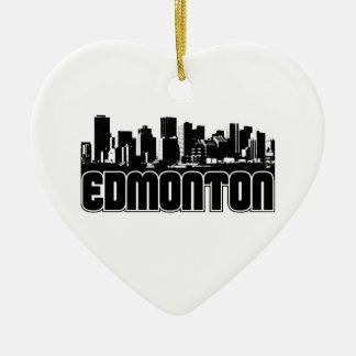 Horizonte de Edmonton Adorno De Cerámica En Forma De Corazón