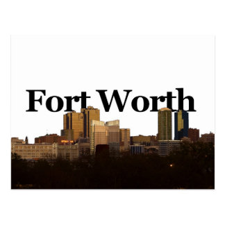 Horizonte de Fort Worth TX con Fort Worth en el Tarjeta Postal