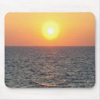 Horizonte de Grecia, Mar Egeo en la puesta del sol Alfombrillas De Ratón