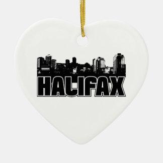 Horizonte de Halifax Adorno De Cerámica En Forma De Corazón