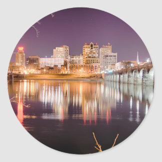 horizonte de Harrisburg Pennsylvania Etiquetas Redondas