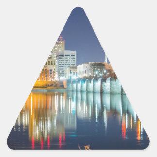 horizonte de Harrisburg Pennsylvania Pegatina De Trianguladas