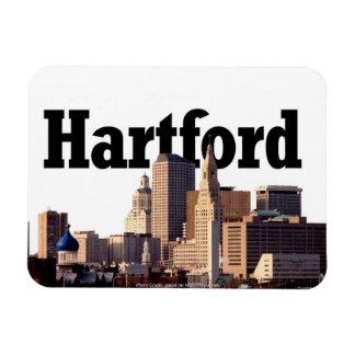 Horizonte de Hartford con Hartford en el cielo Iman Rectangular