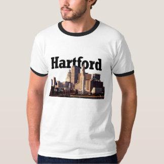 Horizonte de Hartford CT con Hartford en la camisa