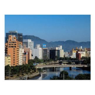 Horizonte de Hiroshima, Japón Tarjeta Postal