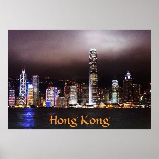 Horizonte de Hong Kong Poster