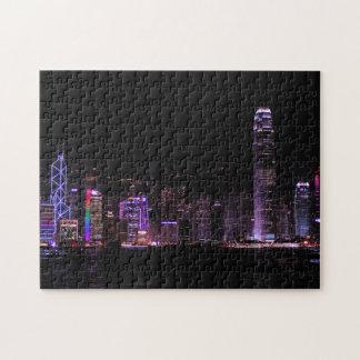 Horizonte de Hong Kong Rompecabezas Con Fotos