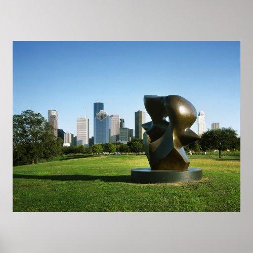 Horizonte de Houston del parque de Eleanor Tinsley Posters