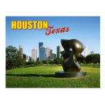 Horizonte de Houston del parque de Eleanor Tinsley Postal