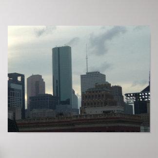 Horizonte de Houston Poster