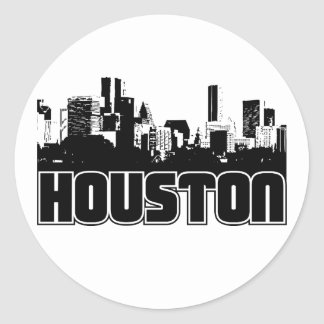 Horizonte de Houston Pegatinas Redondas