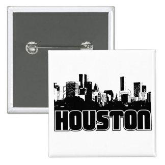 Horizonte de Houston Pin Cuadrado
