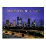 Horizonte de Houston, Tejas en la oscuridad Tarjeta Postal