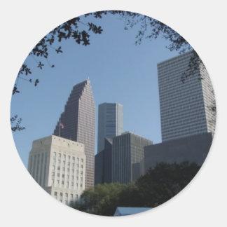 Horizonte de Houston Tejas Etiquetas Redondas