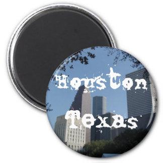 Horizonte de Houston Tejas Imán Redondo 5 Cm