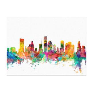 Horizonte de Houston Tejas Lona Envuelta Para Galerías