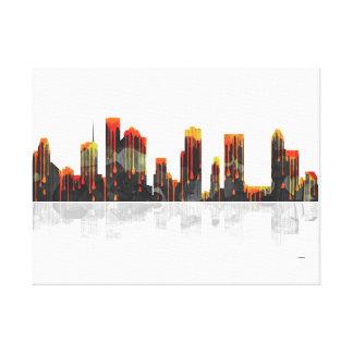Horizonte de Houston Tejas Lienzo Envuelto Para Galerías