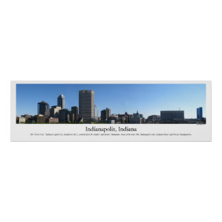 Horizonte de Indianapolis Poster