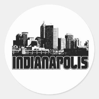 Horizonte de Indianapolis Pegatina Redonda