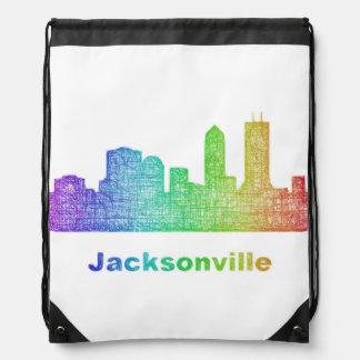 Horizonte de Jacksonville del arco iris Mochila