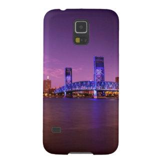 Horizonte de Jacksonville la Florida en la noche Carcasa De Galaxy S5