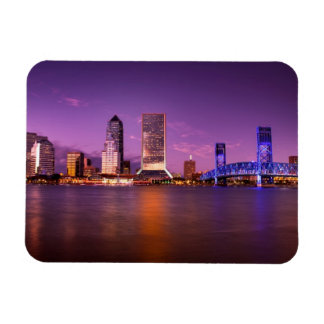 Horizonte de Jacksonville la Florida en la noche