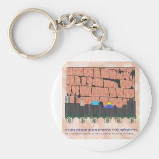 Horizonte de Jerusalén Llavero Personalizado