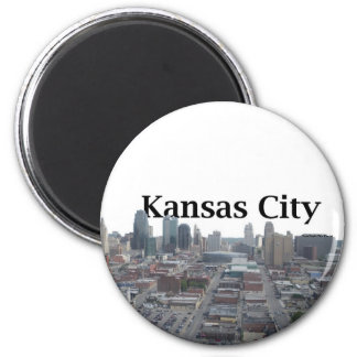 Horizonte de Kansas City con Kansas City en el cie Imán Para Frigorifico