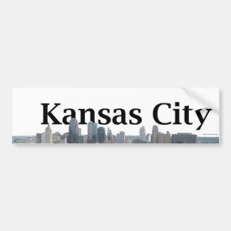 Horizonte de Kansas City con Kansas City en el cie Pegatina Para Auto