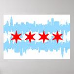 Horizonte de la bandera de Chicago