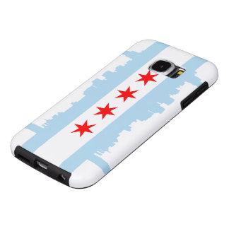 Horizonte de la bandera de Chicago Fundas Samsung Galaxy S6