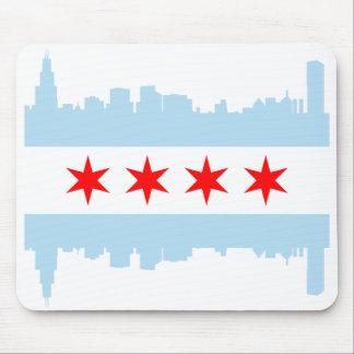 Horizonte de la bandera de Chicago Alfombrilla De Ratones