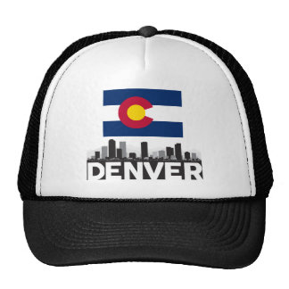 Horizonte de la bandera de Denver Colorado Gorras De Camionero