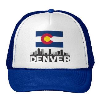 Horizonte de la bandera de Denver Colorado Gorros