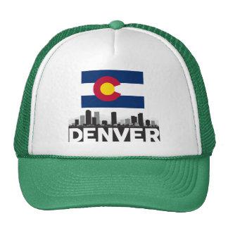 Horizonte de la bandera de Denver Colorado Gorros Bordados
