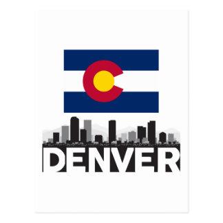Horizonte de la bandera de Denver Colorado Postales