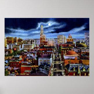 Horizonte de la ciudad de Baltimore Maryland en la Póster