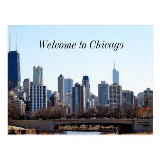 Horizonte de la ciudad de Chicago Postales