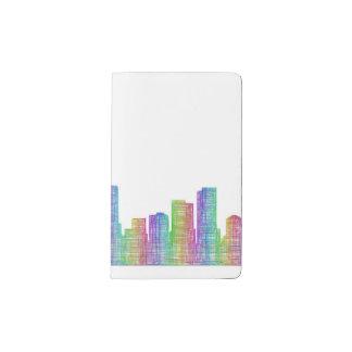 Horizonte de la ciudad de Denver Cuaderno De Bolsillo Moleskine